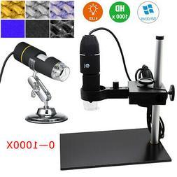 1000x USB Digital Microscope Magnification 8 LED Mini Endosc