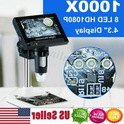 1000x zoom digital video electronic microscope hd