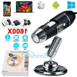 1600X 8LED Digital Microscope USB Endoscope Camera Android M