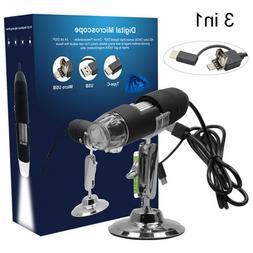 2MP USB 1000X 8 LED 2.0MP Digital Microscope Endoscope Handh