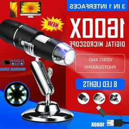 3in1 USB Digital Microscope 8 LED for Electronic Accessories