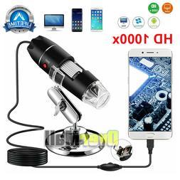 40X-1000X 8 LED Digital Microscope Camera Handheld USB Magni