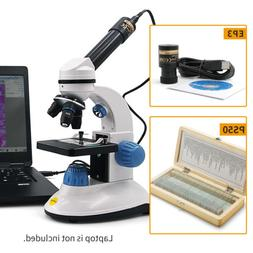 SWIFT 40X-400X Kids Student Compound Microscope+3MP Digital