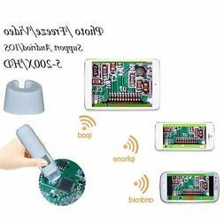 5X-200X 8LED Wireless WIFI Connection Digital Electronic Mic