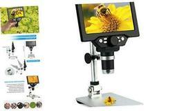 7 inch LCD Digital USB Microscope,Koolertron 12MP 1-1200X Ma