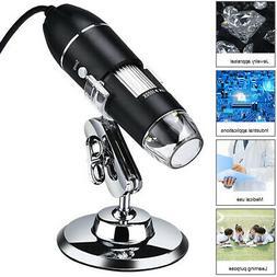 8 LED USB Microscope Digital Electronic Magnifier HD Camera