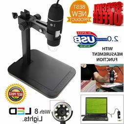 8LED 1000X 10MP USB Digital Microscope Endoscope Magnifier C