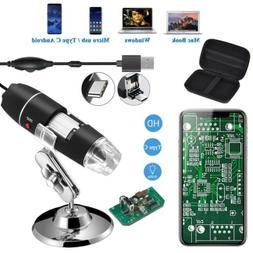 Jiusion Digital USB Microscope Magnification 1600X with Port