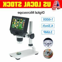 G600 1-600X 4.3inch Digital Microscope Magnifier Endoscope P