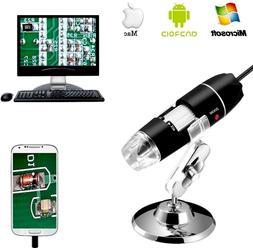 Jiusion 40 to 1000x Magnification Endoscope 8 LED USB 2 Digi