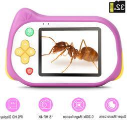 Kids Camera with Microscope Function,Koolertron 200X Magnifi