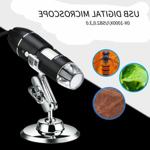 0x-1000x 8 Microscope USB Magnification Endoscope