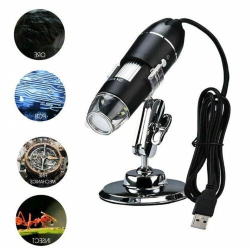 0x-1000x LED Microscope Handheld Magnification Endoscope