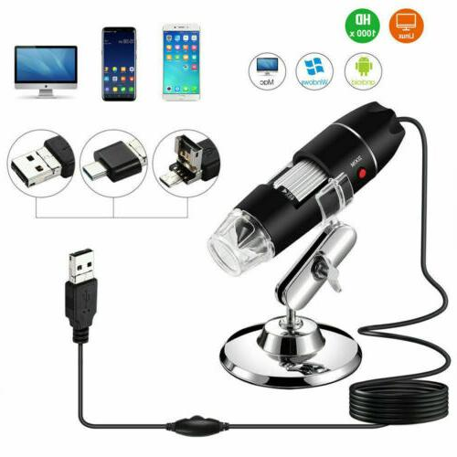 1000x 8led digital microscope camera handheld usb