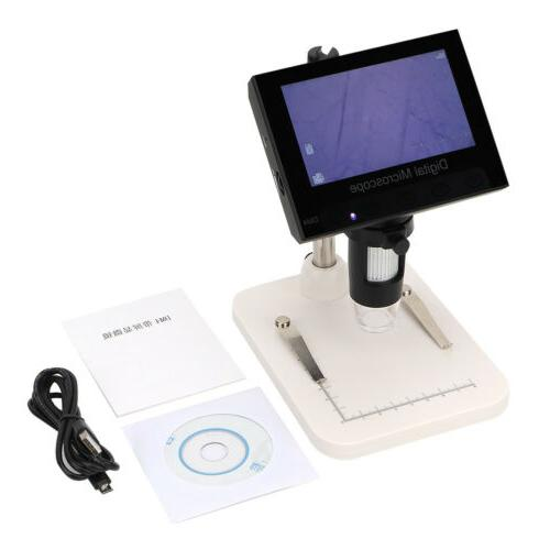 1000X Zoom Video Electronic Microscope 720P 8LED Screen
