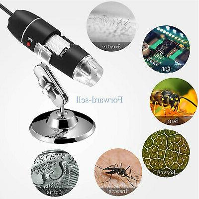 1600X 8LED 3in1 Microscope Magnifier Stand
