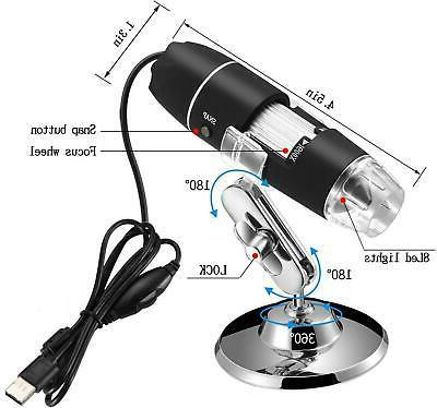 1600X USB Microscope for Laptop