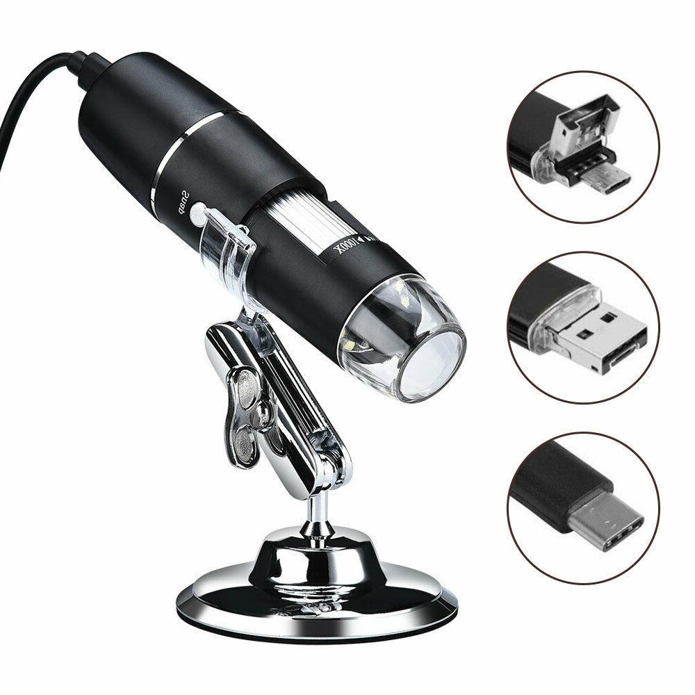 3in1 1600X Microscope 8LED Handheld Biological Camera