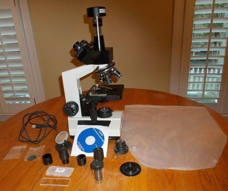 5 mp digital microscope 40x 2500x advanced
