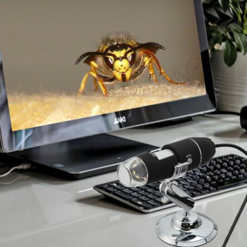 500X 8 Digital Microscope Mobile Phone PC
