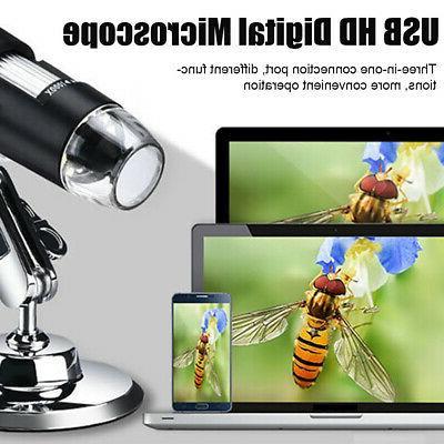 8 LED USB Microscope Digital HD Camera for PC
