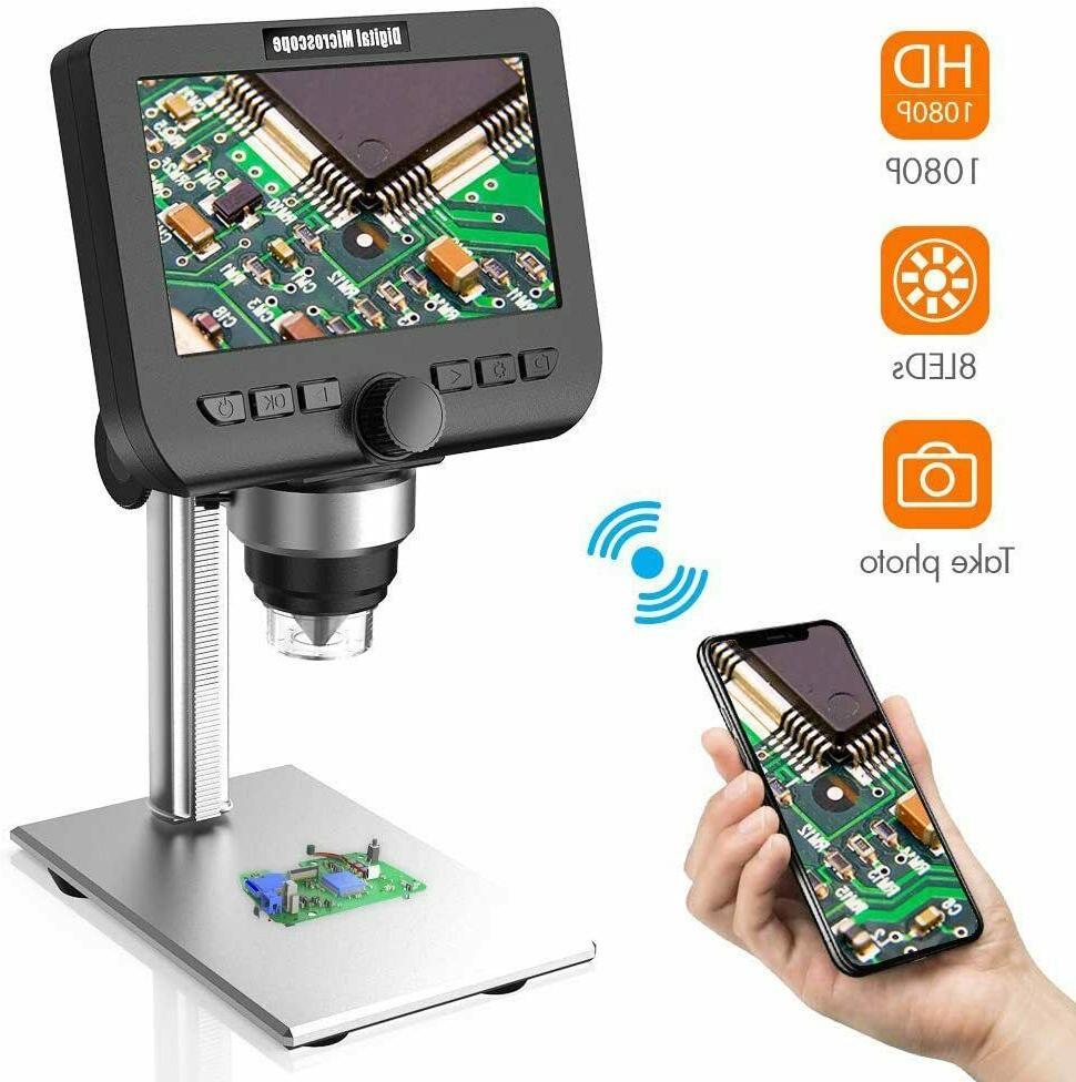 lcd digital microscope 4 3 inch 1080p