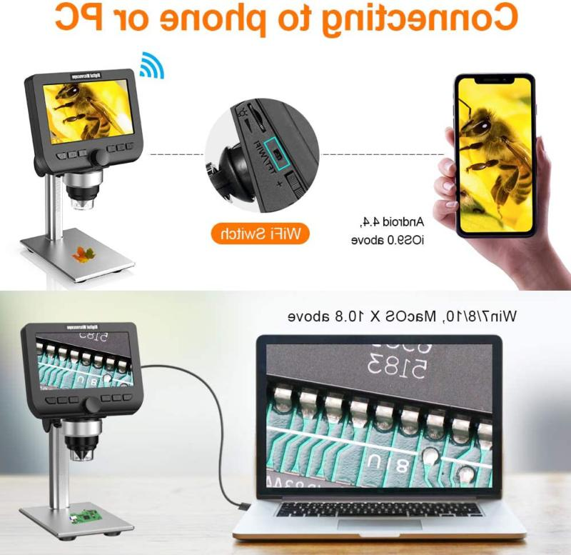 LCD YINAMA 4.3 2 Megapixels Magnification