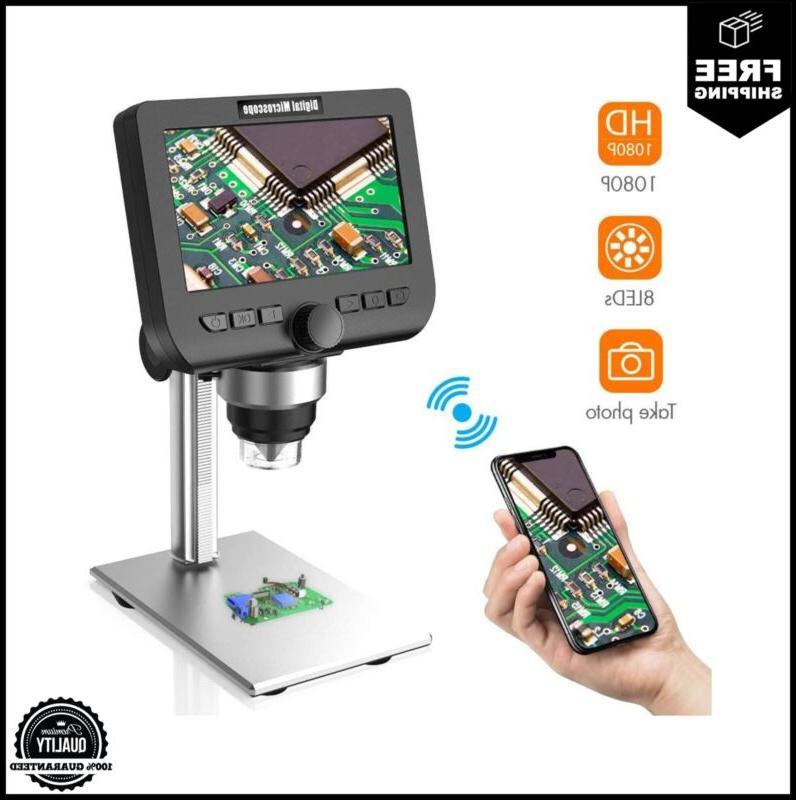 lcd digital microscope yinama 4 3 inch