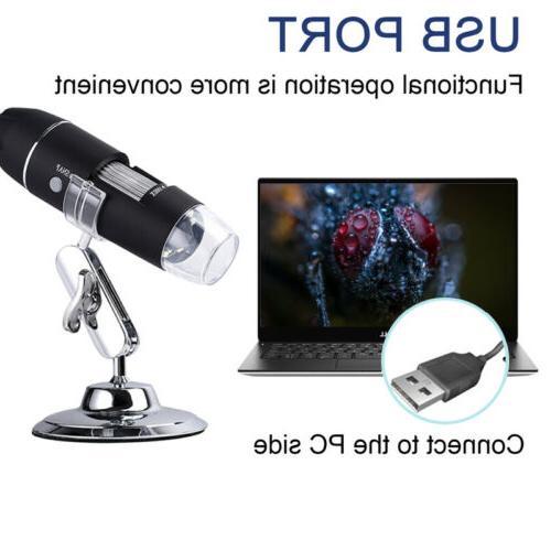 10X-1000X 8 LED Microscope Magnification Endoscope
