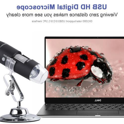 10X-1000X 8 LED Microscope Camera Handheld Magnification Endoscope