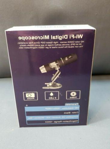 WiFi Digital Microscope Resolution 50x Magnification Open Box
