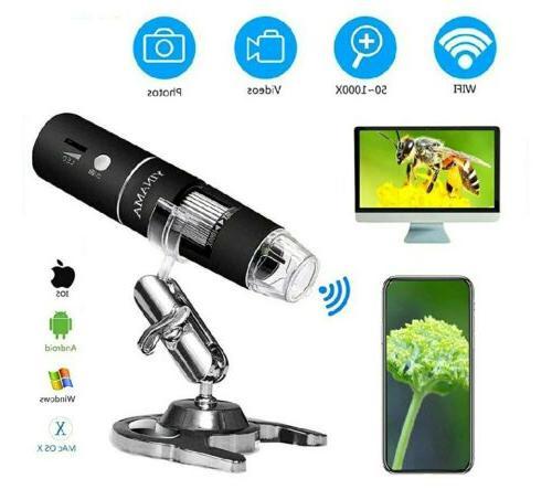 wireless digital microscope yinama 50x to 1000x