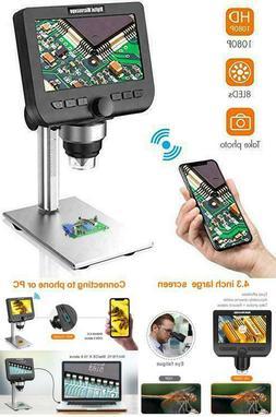 "Lcd Digital Microscope 4.3"" 1080P 2 Megapixels 1000X Magnifi"