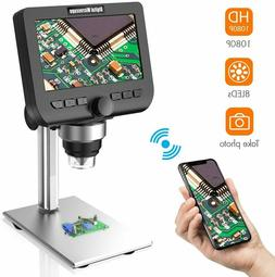 LCD Digital Microscope, YINAMA 4.3 Inch 1080P 2 Megapixels 1