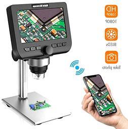 LCD Digital Microscope 4.3 Inch 1080P 2MP 1000X Mag. Zoom Wi