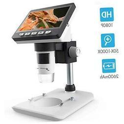 LCD Digital Microscope, SKYBASIC 4.3 inch 50X-1000X Magnific