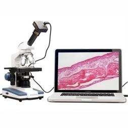 AmScope M620B-9M Digital Compound Monocular Microscope, WF10