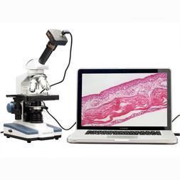 AmScope M620B-5M Digital Compound Monocular Microscope, WF10
