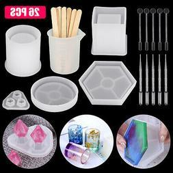 Silicone Resin Molds Epoxy Casting Art Coaster Ashtray Bowl
