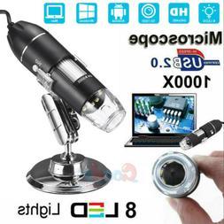 USB 1000X Microscope Endoscope Magnifier Digital Video Camer