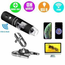 Wireless Digital Microscope, Skybasic 50X to 1000X WiFi Hand
