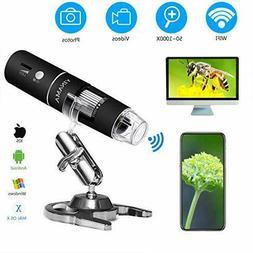 YINAMA Wireless Digital Microscope 1000x Camera 8LED Mini Po