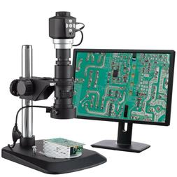 AmScope Digital Zoom Inspection Microscope + 3D Lighting + D